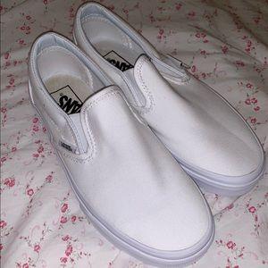 Nwob white slipon vans